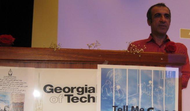 سیاوش محمودی در برنامه یادمان جانفشانان در آتلانتا