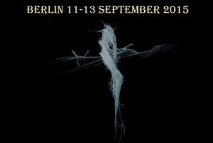 طرح از مسعود فروزش راد به مناسبت ششمین گردهمایی سراسری درباره کشتار زندانیان سیاسی در ایران، 11 تا 13 سپتامبر، برلین