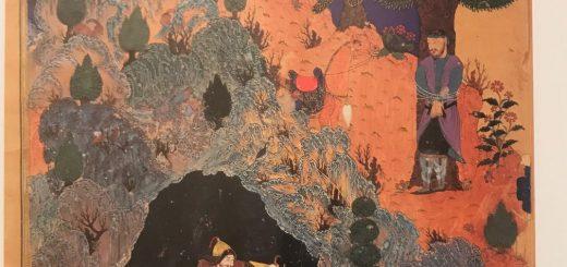 نبرد رستم با دیو سفید، هنرمند نامعلوم، شاهنامه بایسنقری، 883 ه.ق، کاخ گلستان