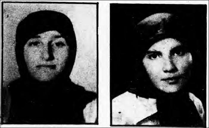 ـ 4 ـ سمت راست: فاطمه (رؤیا) رحیمی، سمت چپ: سمیه (پری) نقره خواجا